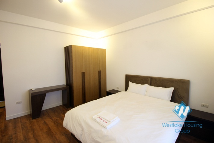Nice apartment with outdoor balcony for rent on Westlake side, Tay Ho, Hanoi