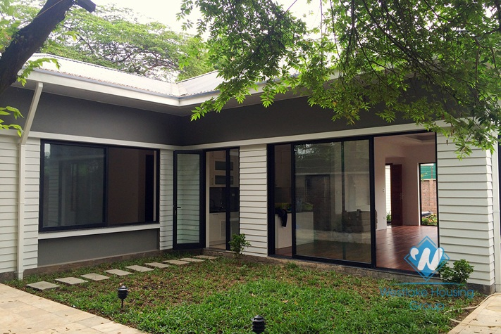 Brand new villa with wonderful garden for rent in Dang Thai Mai Street, Tay Ho, Hanoi