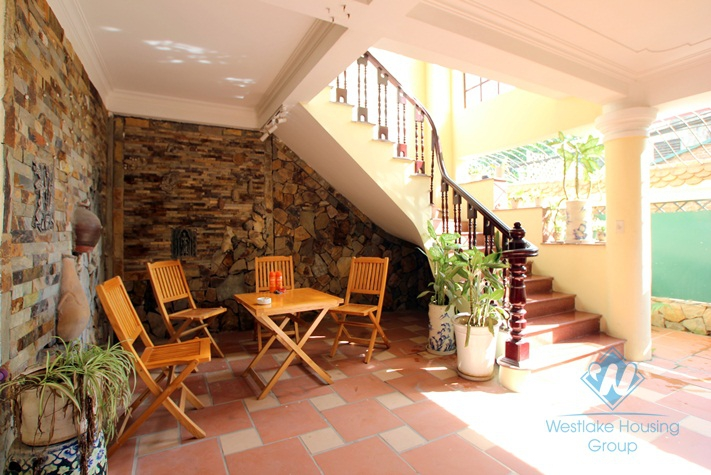Beautiful 3 bedroom furnished house for rent in Tay Ho area