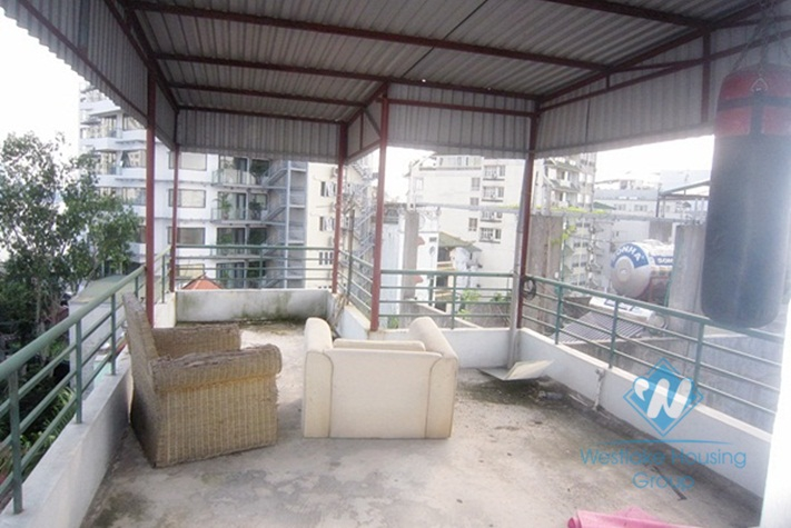 Duplex one bedroom apartment for rent on Au Co street, Tay Ho, Hanoi