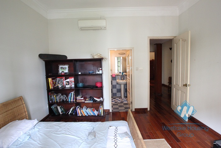 Unfurnished house with nice design for rent in Tay Ho district, Hanoi