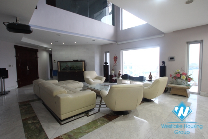 Nice penthouse with lake view available for rent in Golden Westlake, Tay Ho, Hanoi