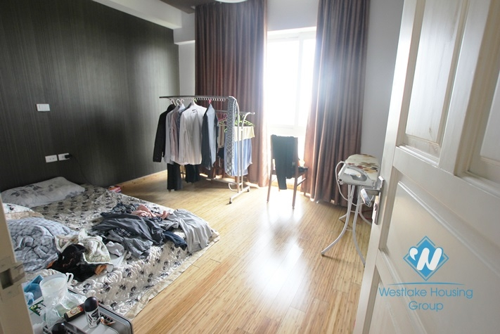 Big size apartment with nice design available for lease in Ciputra, Tay Ho, Hanoi.