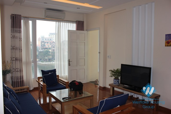 Nice apartment with lake view for lease in Truc Bach area, Ba Dinh, Hanoi