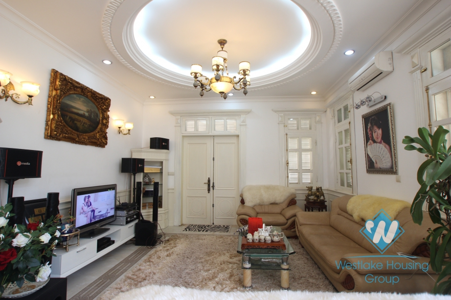Nice and fully furnished house available for rent in Ciputra, Tay Ho, Hanoi