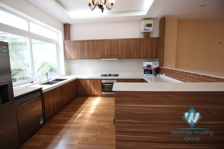 Airy house available for rent in Ciputra, Tay Ho, Hanoi- unfurnished
