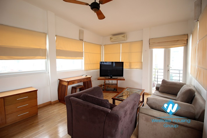 Super bright and quiet one bed apartment for rent in Hai Ba Trung, Hanoi