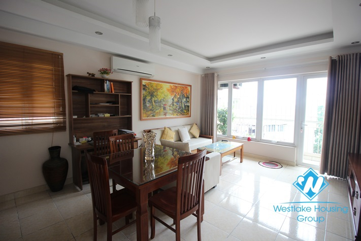 Bright and airy one bedroom apartment for rent in Truc Bach area, Ba Dinh, Hanoi