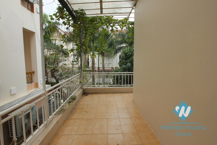 Bright house available for rent in Ciputra, Tay Ho, Hanoi.