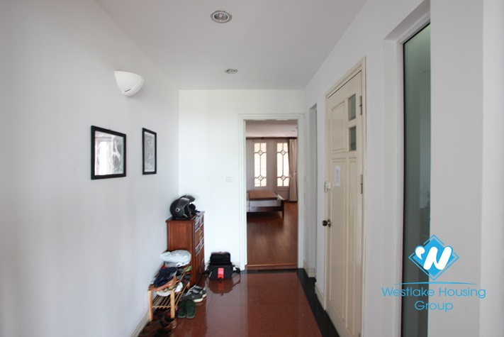Beautiful penthouse apartment with lake view for rent in Truc Bach area, Ba Dinh, Ha Noi