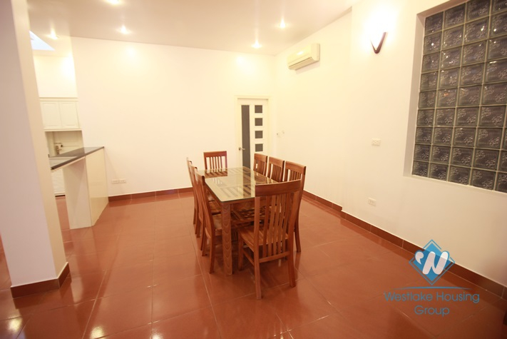 Unfurnished, spacious 4 storeys house for rent in Tay Ho