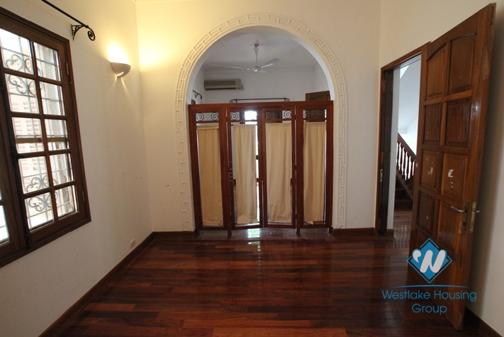 Beautiful house with big yard for rent in Tay Ho, Ha Noi.