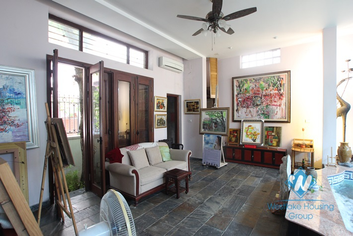 Bright house with swimming pool available for rent in Westlake area, Hanoi, fully furnished.