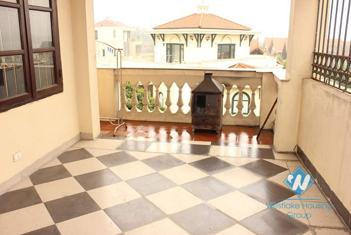 Nice house with French design for rent in Dang Thai Mai st, Tay Ho, Ha Noi