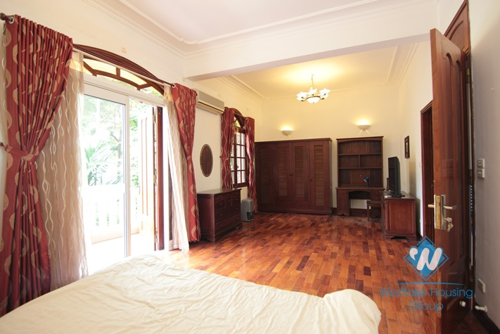 High ceiling French villa for rent in Tay Ho, Ha Noi