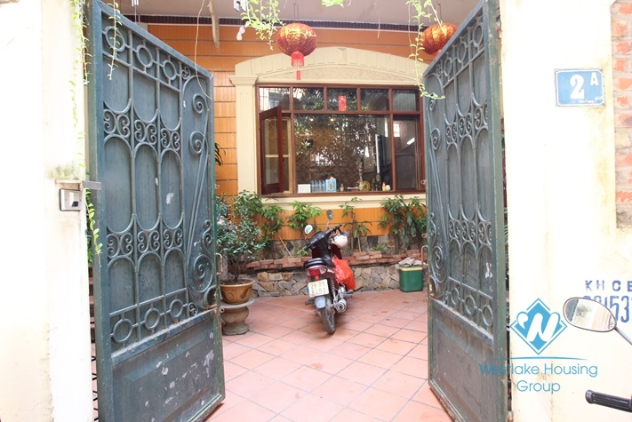 Beautiful house for rent with 4 floors in Tay Ho street, Tay Ho district, Hanoi