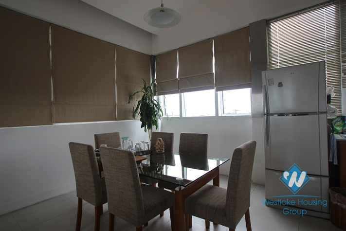Duplex apartment with nice design for lease in Ba Dinh District.