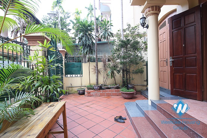 Nice house with small yard for rent in To Ngoc Van st, Tay Ho, Ha Noi
