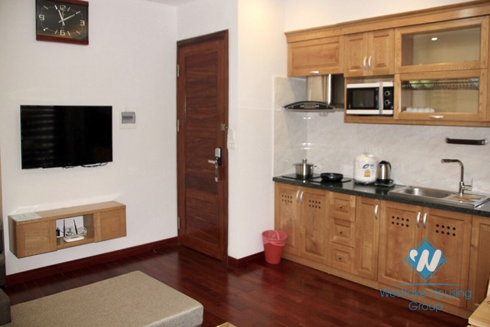 A lovely and enchanting 1 bedroom apartment for rent on Kim Ma street, Ba Dinh