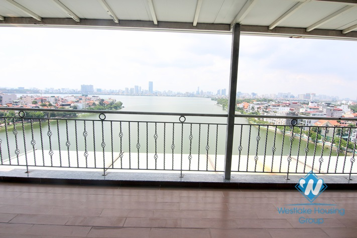 Modern duplex apartment with stunning lakeview for rent in Tay Ho, Hanoi