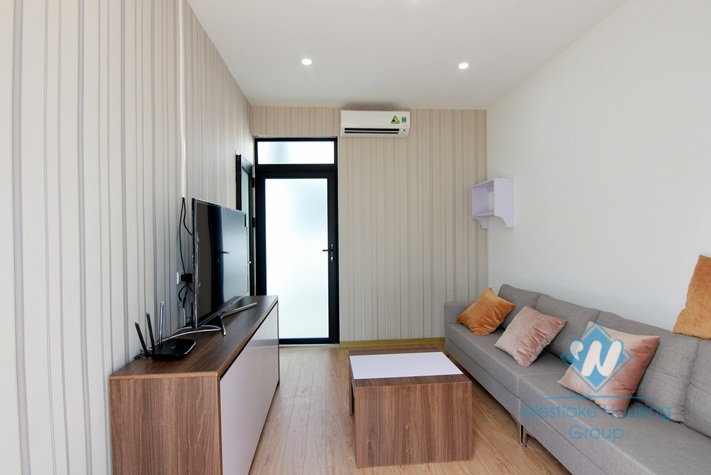 One bedroom apartment with big outside space for rent in Tay Ho.
