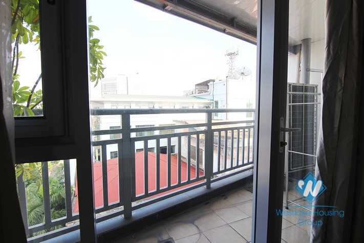 Spacious apartment with 02 bedrooms for rent in Doi Can street, Ba Dinh district.