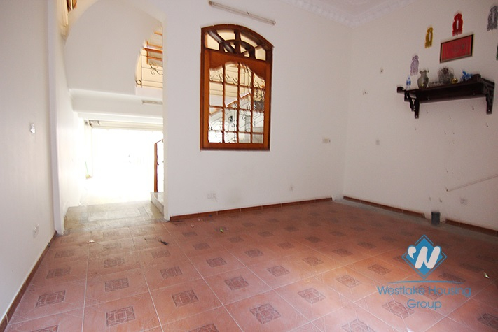 Unfurnished house for rent in Truc Bach area.
