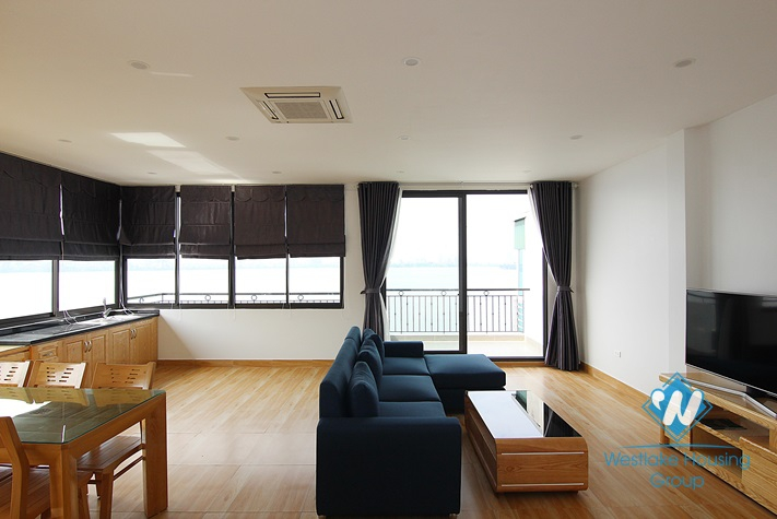 New apartment with lake view for rent in Yen Phu Village, Tay Ho District