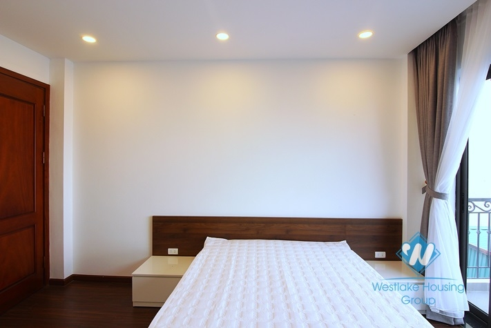 A brand new 2 bedrooms apartment with lake view for rent in Yen Phu village.