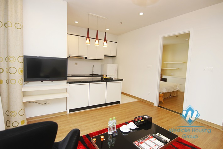Morden and luxury 1 bedroom apartment for rent in Duy Tan st, Cau Giay district.