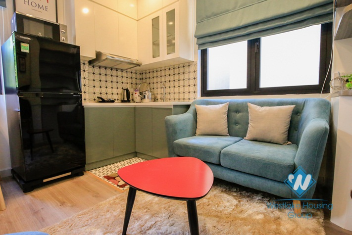 A little beautiful and nice 1 bedroom apartment for rent in Ba Dinh District