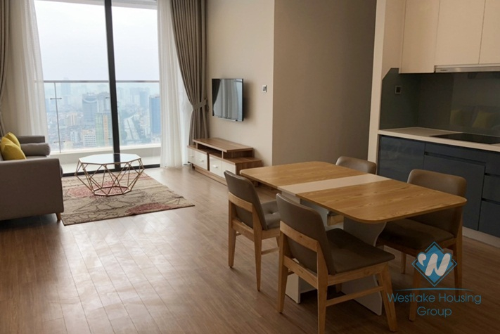 Beautiful high floor two bedrooms apartment for rent in Vinhome Metropolis, Ba Dinh district, Ha Noi