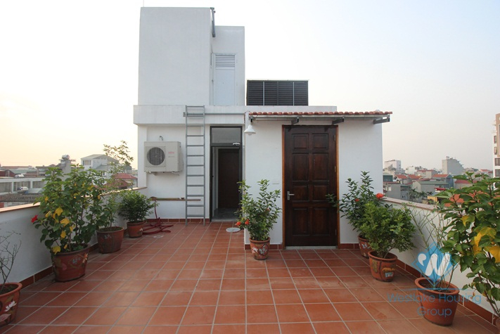 A beautiful 1 bedroom apartment with little balcony for rent on Ngoc Thuy, Long Bien