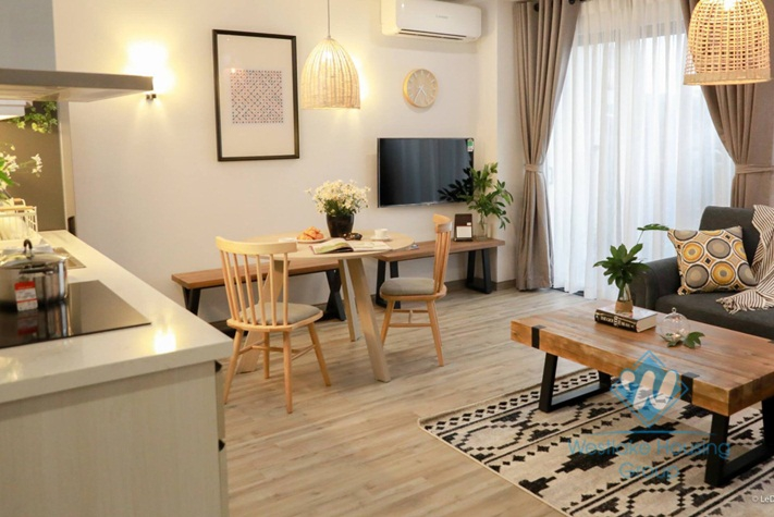 Modern decor and furnished 2 bedroom apartment for rent in Dong Da, Hanoi