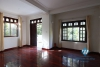 Unfurnished 4 bedrooms house with yard and garage for rent in Au Co st, Tay Ho area.