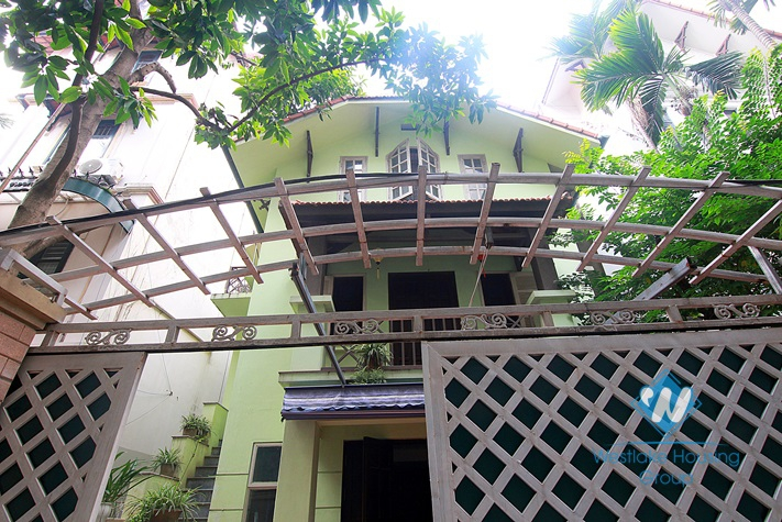 Nice house with a yard in To Ngoc Van, Tay Ho