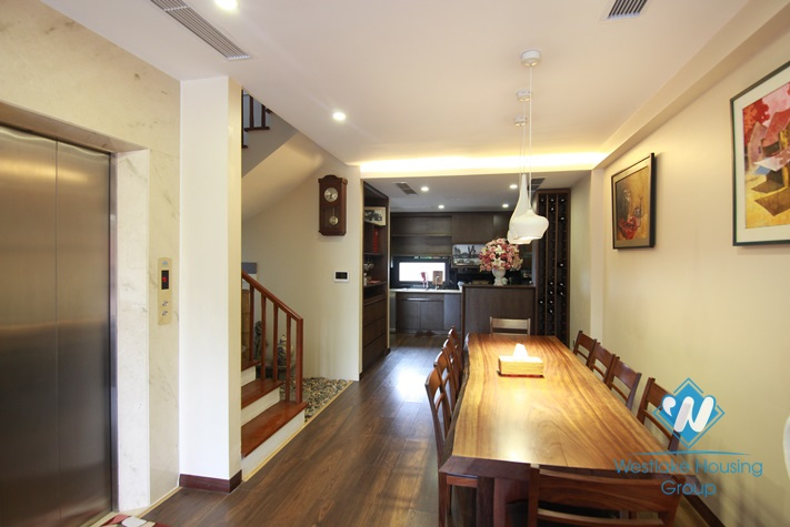 Modern with fully furnished house for rent in Tay Ho District