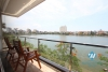 Bright 3 bedroom apartment with lake view for rent in Tay Ho