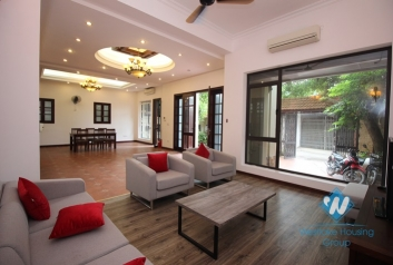 Furnished house front patio for rent in Dang Thai Mai alley, Tay Ho, Hanoi