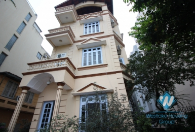 Charming house with nice yard for rent in Tay Ho area.