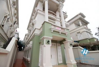 Newly renovated house with back yard and garage for rent in Ciputra Ha Noi