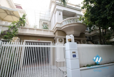 Bright and modern house for rent in Ciputra, Tay Ho, Hanoi.