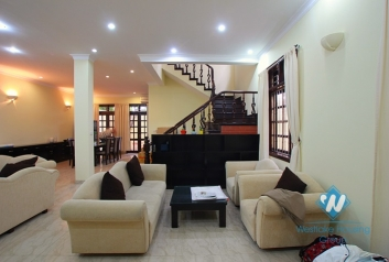 Beautiful and large house for lease in Ciputra, Tay Ho, Ha Noi