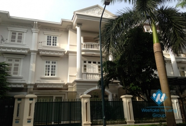 Charming villa 2-C5 Ciputra in Westlake area, Tay Ho, Hanoi for rent with 5 bedrooms