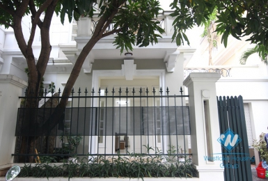 Nice house for rent in Ciputra, Tay Ho, Hanoi, fully furnished.