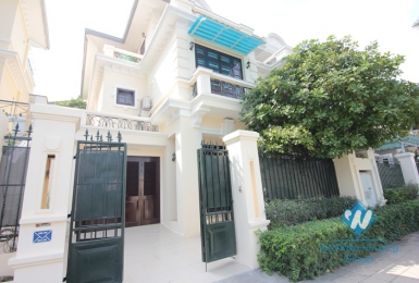 A modern and elegant villa for rent in D area Ciputra, Hanoi