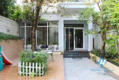 High quality villa for rent in Ciputra, Tay Ho, Hanoi. The land area is 320 sqm, three floors. Price for rent 3700 USD/month