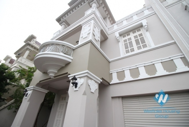 Large size and fully furnished house available for lease in Ciputra, Tay Ho district, Hanoi