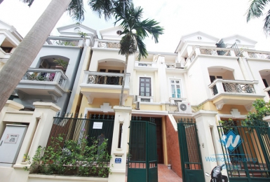 Furnished house for rent in C Block, Ciputra, Tay Ho, Ha Noi