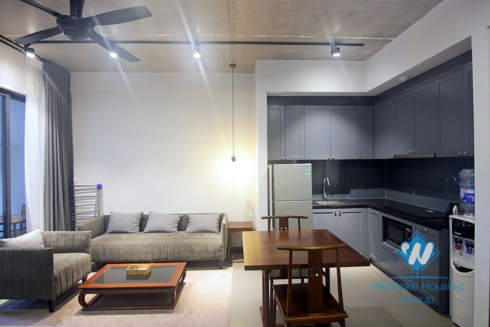 Bright 1 bedroom apartment for rent in Tu Hoa st, Tay Ho district, Ha Noi.